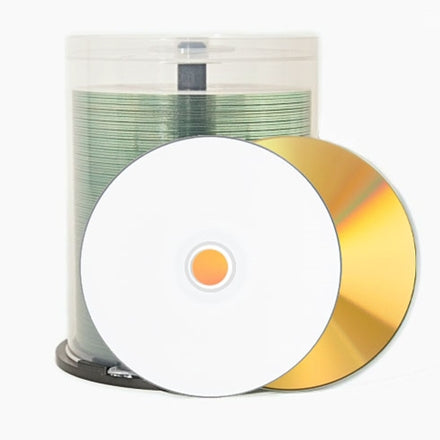 Gold CD-R - 700mb White Inkjet hub 43816