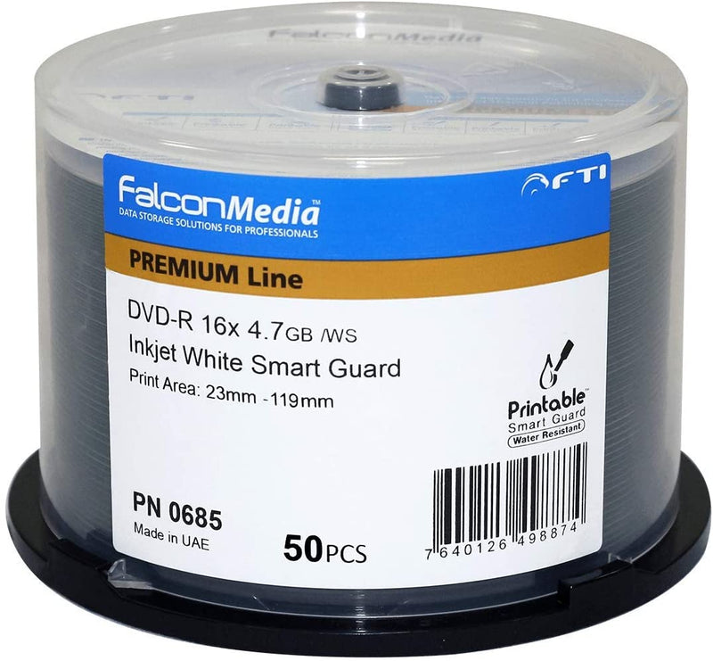 Falcon Media Smart Guard White Inkjet Glossy 16X DVD