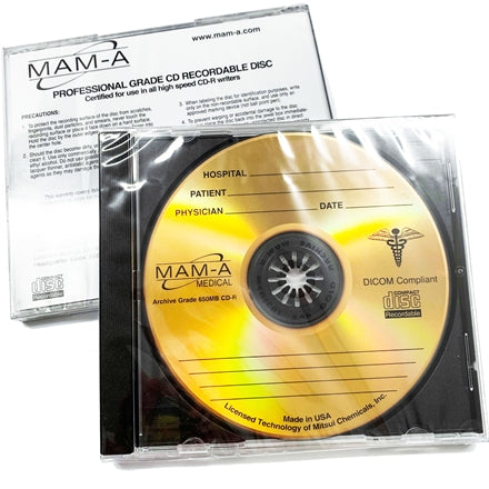 Medical Gold CD-R - 650mb Logo, Jewel Case 45214