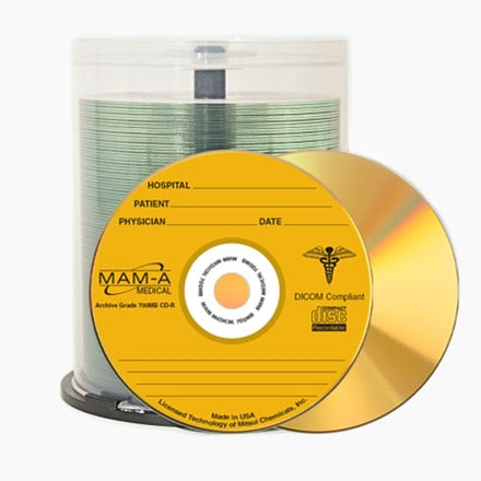 Medical Gold CD-R - 650mb Logo 45215