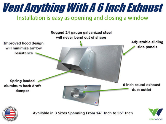 Vent Works Has Just Introduced A 6 Inch Window Vent!