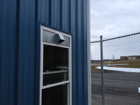 Window Dryer Vent Installed At Falcon Airport by Vent Works