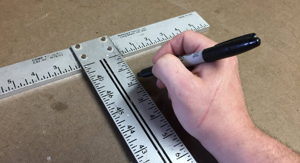 Marking The Window Pane Measurements On The Acrylic Sheet