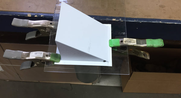 Secure Vent To Acrylic Sheet With Clamps