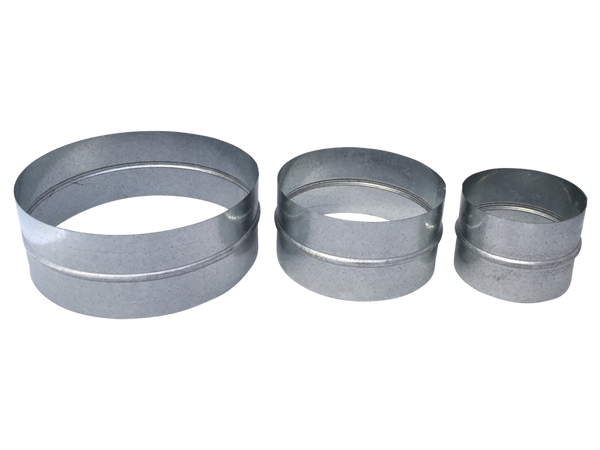 Flexible Duct Connector Pipe Coupler Non Crimped Ends