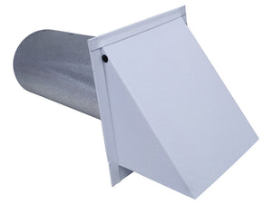5 Inch Wall Vent (Powder Coated White)