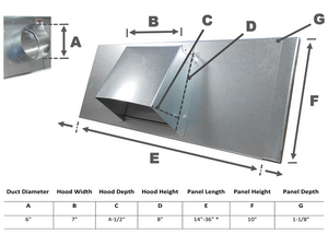 6 Inch Window Vent Spec Sheet