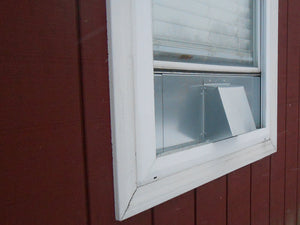 6 Inch Window Vent Exterior Side View