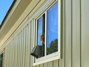 Putting a Vertical Window Dryer Vent in a Slider Window