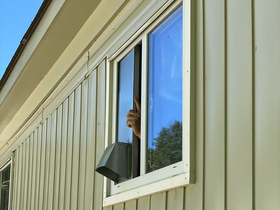 Vertical Window Dryer Vent by Vent Works