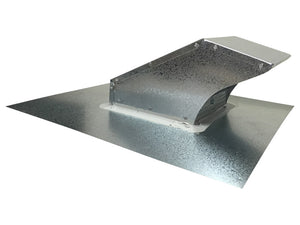 Metal Roof Vent Galvanized Side View