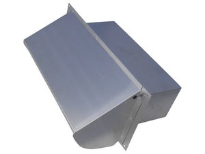 Rectangular Wall Vent Aluminum Front Top View