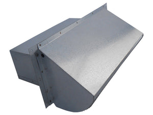 Rectangular Wall Vent Galvanized Front Side View