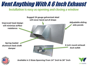 6 Inch Window Vent Product Explainer Infographic by Vent Works