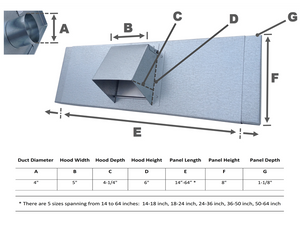 Window Dryer Vent Spec Sheet Image