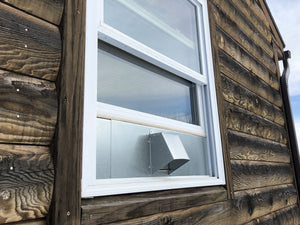 Window Dryer Vent In Use (outside view)