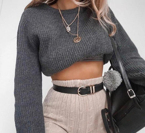 It's Fall Cropped sweater