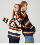 Rainbow Knitted striped Sweater