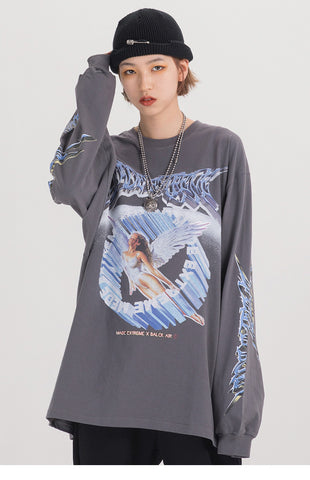 Dark Angel long sleeve graphic tee