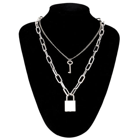 layered Lock Chain necklace