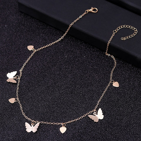 Butterfly tear charm Necklace