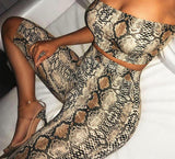 Baby snake print two piece set