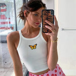 Halter butterfly top