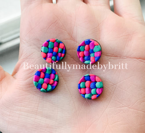 Clay Studs Small