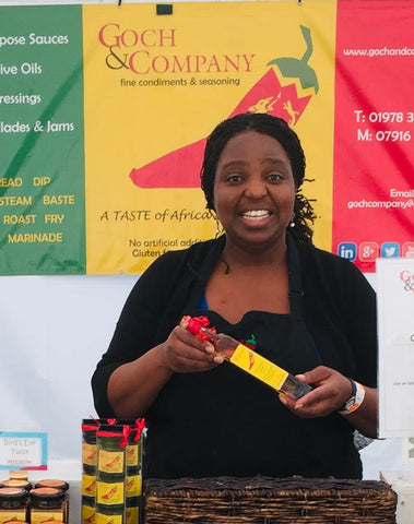 Valerie on the Goch & Co stand