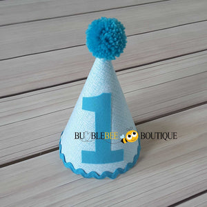 Turquoise Colour Weave Party Hat