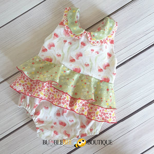 Bush Gum Blossoms Romper front view