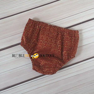 Amazing Stars red & gold nappy cover