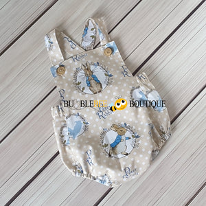 Peter Rabbit Vintage Style Romper front view