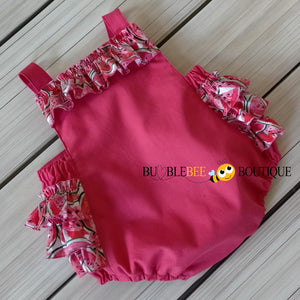 Luscious Watermelon Girls' Cake Smash Outfit - Frilly romper)
