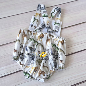 Out of Africa Jungle Animals Romper back view