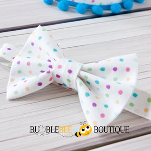 Bambini Dots Cake Smash Outfit Bow Tie