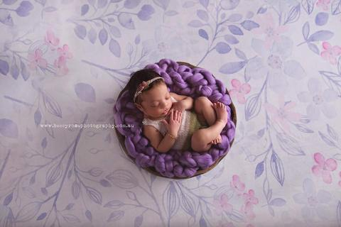 Bumblebee Boutique Bump Blanket Lavender (Image by Beccy Rose Photography)