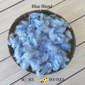 Blue blend hand-dyed fleece