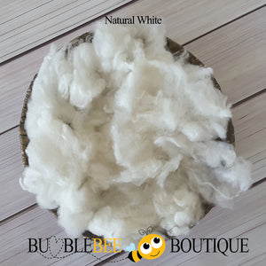 Natural white fleece