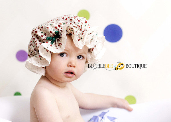 Vintage Rosebuds Frilly Mob Cap in Cream cd64bc5cadc2