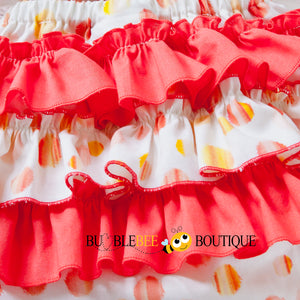 Sunset Spots girl's cake smash outfit back ruffles
