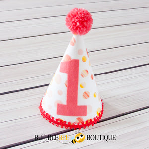 Sunset Spots girl's cake smash outfit party hat