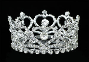Queen of Hearts Tiara Mini Crown - White