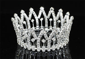 Jubilee crystal mini crown tiara
