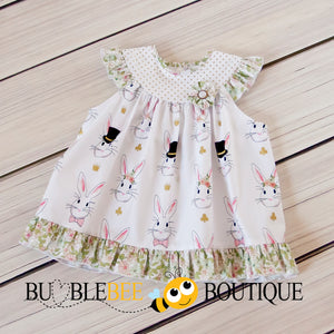 Wonderland White Rabbit Sitter Dress front view