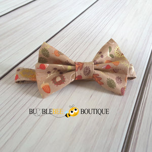 Woodland cake smash outfit bow tie
