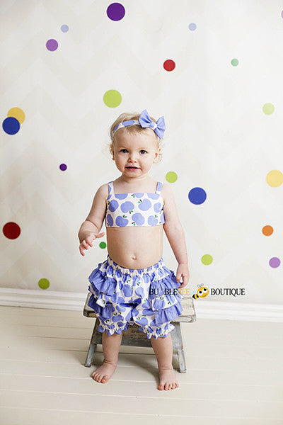 Apple of My Eye Lavender Girl's Cake Smash Outfit Australia