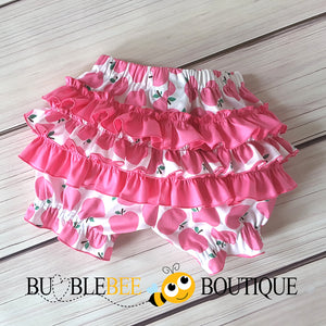 Apple of My Eye Pink Girls Cake Smash Outfit Bloomers back view