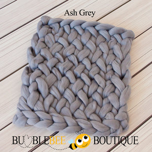 Bumblebee Boutique Bump Blanket Ash Grey