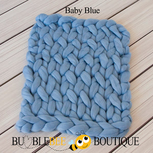 Bumblebee Boutique Bump Blanket Baby Blue